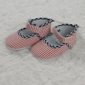 NWT Baby Girl Red White Blue Shoes